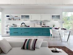 Cucina laccata con maniglie Collezione Gallery by Cucine Lube