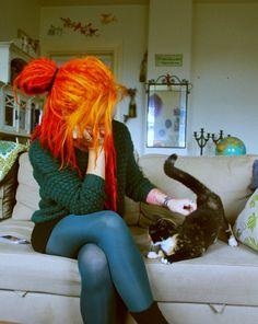Orange yellow dreads