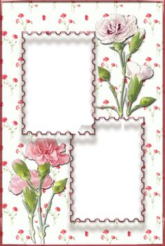 Flower Background Design, Flower Background Wallpaper, Flower Backgrounds, Printable Frames, Free Printable Invitations, Butterfly Frame, Flower Frame, Molduras Vintage, Foto Frame
