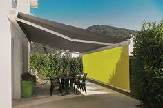 Sun Awnings, Patio Curtains, Patio Shade, Jacuzzi, Backyard, Shades, Exterior, House Design, Outdoor Decor