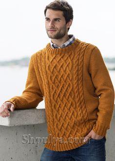 Вязаные мужские свитера, пуловеры, джемперы и жакеты Jumper Knitting Pattern, Sweater Knitting Patterns, Knitting Designs, Crochet Pattern, Aran Jumper, Cable Knit Jumper, Mens Knit Sweater, Sweater For Men, How To Purl Knit