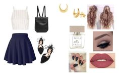 """Wednesday"" by isabellasmall on Polyvore featuring Topshop, Smashbox, Dinny Hall, Bella Freud and GRETCHEN"