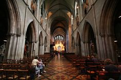 St. Patrick's Cathedral, Dublin, Ireland.  The floor looks like a quilt.  We also went to Vespers here and heard their beautiful boy choir.  The Choir School is right across the street--a boarding school for ages 4 - 17.