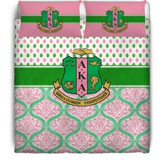 Sorority Duvet Cover or Comforter Set - Alpha Kappa Alpha Sorority, AKA from Designs by Dee's Hands. Saved to AKA.