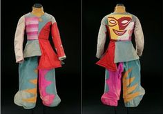 BALLET RUSSES – Chout; Mikhail Larionov, design (Moldova 1881 - France 1964). Buffoon costume, 1915.