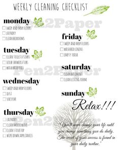 A Realistic Cleaning Schedule You Can Stick With
