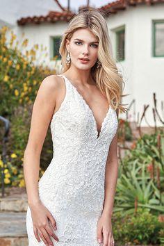 Jasmine - F211058 | Suzanne's Bridal Boutique White Lace Wedding Dress, Sexy Wedding Dresses, Tulle Wedding, Lace Weddings, Bridal Dresses, Wedding Gowns, Wedding Bride, Jasmine Bridal, Mermaid Silhouette