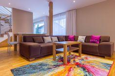 lot of collors in interier #passivhaus | family | #interierdesign | #kalksandstein | two-storey house | Slovenská Lupča | slovakia |