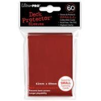 Ultra Pro Card Supplies YUGIOH Deck Protector Sleeves Red 60 Count by Ultra Pro. $4.75. UPR82683 YuGiOh Deck Protector Card Sleeves (Red) by Ultra Pro Feature:Longer PlayabilityMeasure 2.44in x 3.50in (62mm x 89mm) - Fits Smaller Size Yu-Gi-Oh cards, and other smaller size gaming cardsKeeps Card Clean and SafeNo PVCAcid FreeHigh Quality Soft Poly SleevesProvides UV ProtectionTop Loading