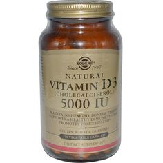 Solgar, Natural Vitamin (Cholecalciferol), 5000 Iu, 240 Veggie Caps, Diet Suplements 蛇 Natural Vitamins, Vitamin D, Dairy Free, Gluten, Diet, Vegetables, Healthy