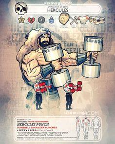 shoulder exercise: hercules punch