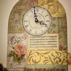 Видео мастер-класс по декору часов «Время впечатлений». Автор: Алла Маврина.