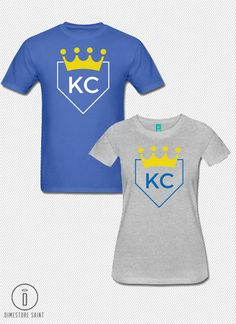 KC Royals Baseball Home Plate T Shirt both by DimestoreSaintDesign
