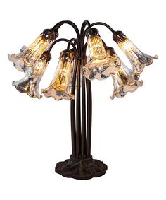 River of Goods Silver 10-Light Lily Table Lamp | zulily