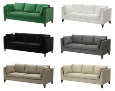 waaaant stockholm 3er sofa sandbacka gr n ikea. Black Bedroom Furniture Sets. Home Design Ideas