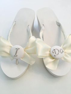 311f81c6a4b2 Wedding Bridal Shoes Flip Flop Wedges for the Bride with JEWELLED STARFISH.Beach  Weddings