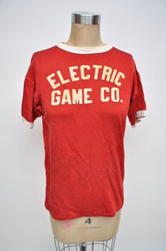 vintage tshirt athletic jersey t-shirt 1950s by goodbyeheartwoman