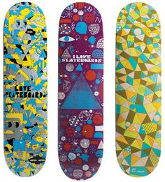 Love skateboards designs