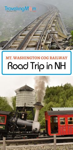 Traveling to New Hampshire's White Mountains? Fun pit stops include StoryLand, Santa's Village and hiking the Flume Gorge. But our favorite was riding the Mount Washington Cog Railway to the summit!