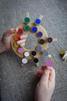 Holz Farbe Rad Farbe passendes Spiel Montessori von MazaisMeistars
