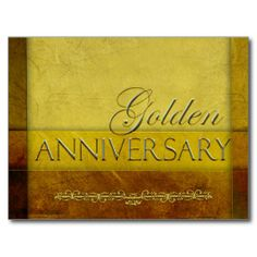 Shop Customize your own Golden Anniversary Postcard created by perfectpostage. 50th Wedding Anniversary Invitations, Golden Wedding Anniversary, Anniversary Cards, Birthday Postcards, Thank You Postcards, Postcard Design, Postcard Size, Invitation Cards, Card Wedding