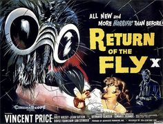 1959 return of the #fly. #horror Vincent #price