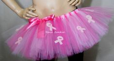 Breast Cancer Awareness Tutu  9 inches running tutu by RaceJunkie, $36.95 So getting this when I get back healthy!!!!