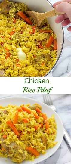 This One Pot Chicken Rice Pilaf is easy and fast weeknight meal. It's colourful, flavorful and super delicious.