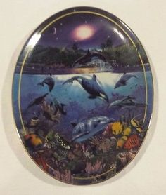 Bradford Exchange Above & Below Rainbow Sea Collectors Plate Dolphins Whale