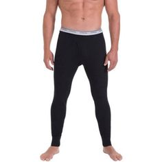 Fruit of the Loom Men's Classic Thermal Underwear Bottom, Size: Medium, Black