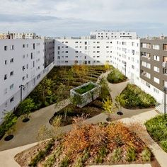 A Changing Neighbourhood by Espace Libre « Landscape Architecture Works Social Housing Architecture, Architecture Site Plan, Sustainable Architecture, Landscape Architecture, Landscape Concept, Landscape Plans, Urban Landscape, Landscape Design, Courtyard Landscaping
