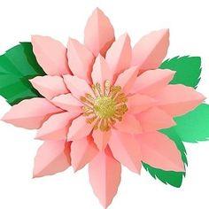 Flor de Papel Gigante de 40cm realizada con Cartulina. En mi web puedes aprender a realizar estas hermosas flores www.ponquis.com Plants, Card Stock, Paper Flowers, Plant, Planets