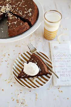 This flourless chocolate coconut cake from A Beautiful Mess would make a perfect final act to a Valentine's Day meal, don't you think?
