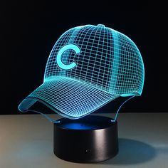 3D Hip Hop Baseball Team Cap LED 3D Illusion Night Light 7 Colors USB5V/Battery American. 3D Hip Hop Baseball Team Cap LED 3D Illusion Night Light 7 Colors USB5V/Battery American Baseball Hat Decor Bulb Visual Lamp 3DBaseball Team Cap3D illusionShape Night Light Home Decoration 7 Color-Changing Atmosphere Lamp With USB Charger  Hot selling 1:Crazy popular special for young people; Hot selling 2:Amazing Innovative 3D illusion night lamp; Hot selling 3:Fit for Hotel/Room/Coffee bar/bar/KTV…