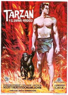 "Tarzán y el safari perdido (1957) ""Tarzan and the Lost Safari"" de H. Bruce Humberstone - tt0051057 Tarzan Series, Tarzan Movie, Old Movie Posters, Movie Poster Art, Old Movies, Vintage Movies, Betta, Hollywood Poster, Tarzan Of The Apes"