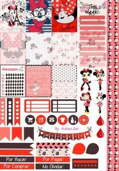 Minnie Love - Printable Stickers by AnacarLilian.deviantart.com on @DeviantArt