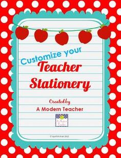 Teacher Stationery, great for when you are in a hurry