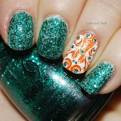 """China Glaze """"Pine-ing for Glitter"""" www.colorfulcrack.com"""