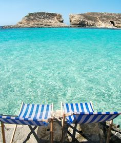 Booze, Views, and Lounge Chairs on the Water's Edge: Malta Beaches