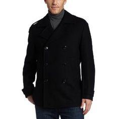 Perry Ellis Men's Wool Pea Coat (Apparel)