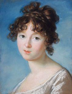 Pastel portrait of Aniela Radziwiłłówna by Louise Élisabeth Vigée Le Brun, 1800-1801 (PD-art/old), Petit Palais Musée des Beaux Arts de la Ville de Paris