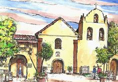 Mission near Solvang, California. By Terry Banderas