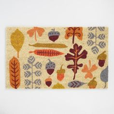 Fall Foliage Coir Doormat by World Market Fall Apartment Decor, World Market Store, Coir Doormat, Welcome Mats, Holiday Tree, Porch Decorating, Fall Decor, Diys, Kids Rugs