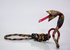 Recycled clothing art by Guerra De La Paz