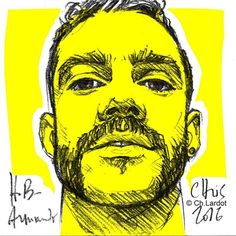 Post-it Portrait by Christophe LARDOT                      Happy Birthday Armando ;-)  #manstyle #fashionillustration #man #manface #sexymen #yellow #yellowsquare #art #arte #artwork #arty #artpop #instaart #instabeard #beard #beardclub #beardman #beardgang #beardvillains #beards #fullfrontal #sketch #sketching #sketchoftheday #birthday #birthdaygirl #stach #mustache #man #manstyle #postitportraitbychistophelardot #postitportrait