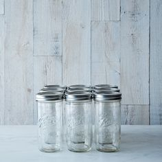 Ball 1.5 Pint Wide Mouth Canning (9 Jars) on Provisions by Food52 - this size jar is AWESOME - I have just a couple my mom got years ago... they are so hard to find!