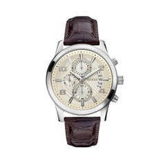 men s wrist watches guess mens u0716g1 classic silvertone watch guess men s executive chronograph dial watch beige want additional info click on