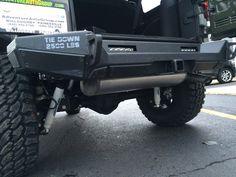 Lower view of rear bumper on Wrangler Unlimited Sport, 2016 Jeep Wrangler, Bar Led, Chrysler Dodge Jeep, Led Flood Lights, Fender Flares, Led Light Bars, Light Painting, Alloy Wheel