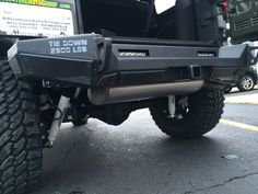 Lower view of #smittybilt rear bumper on #JKU