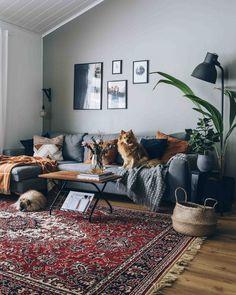 hygge home & hygge . hygge home . Hygge Home, Casa Hygge, Boho Living Room, Living Room Modern, Living Room Decor, Small Living, Living Rooms, Decoration Hall, Decoration Design